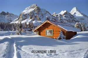 Assiniboine Lodge in winter snow