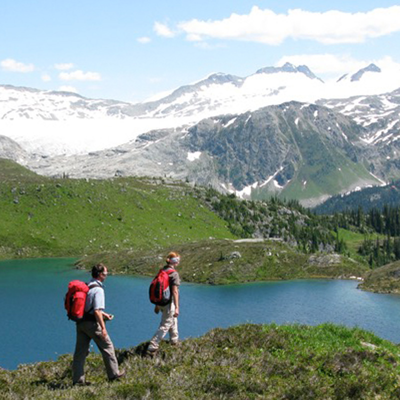 Adventure Travel - Hikers Above Lake